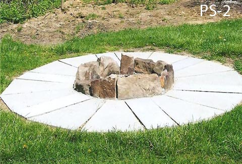 Finished Firepit With Patio Stones