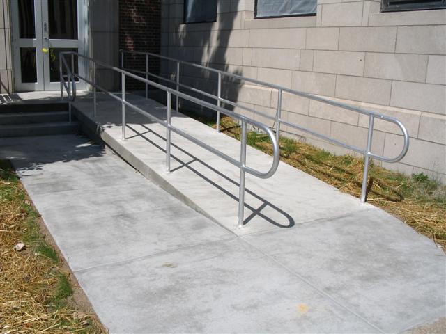 Two Bar Pipe Aluminum Railing