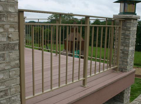 Gavala style deck rail pc pebble